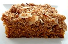 Cafe Beaujolais Coffe Cake. Cinnamon characterizes this variation of a classic.