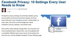 facebook privacy ~mashable.com