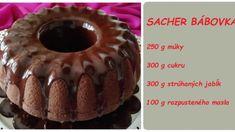 Jablečná bábovka na způsob luxusní Sacher dorty: Bábovku peču každý týden, ale lepší od této jsem ještě nejedla! Cheesecake, Muffin, Pie, Breakfast, Desserts, Food, Torte, Morning Coffee, Tailgate Desserts