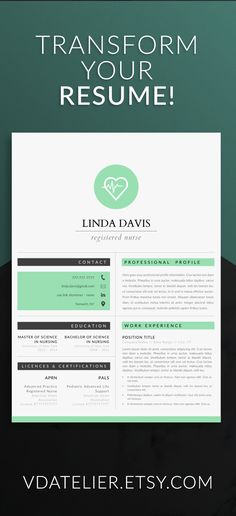 Professional resume template for nurses, doctors, and all medical - nursing resume templates free