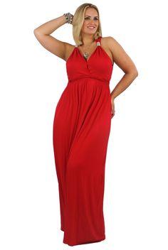 Red grecian dress