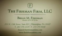 Fishman Firm Fishmanfirm Profile Pinterest