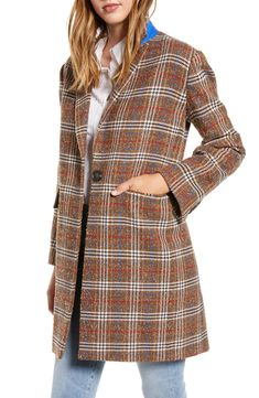Shop a great selection of Court & Rowe Plaid Boucle Topper Coat. Find new offer and Similar products for Court & Rowe Plaid Boucle Topper Coat. Topshop Joni, Coats For Women, Clothes For Women, Work Clothes, Dresses For Work, Dresses With Sleeves, Plaid, Fall Looks, Shirt Jacket