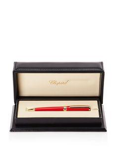 50% OFF Chopard Allegro Ballpoint Pen, Red/Gold Trim, 14 cm x 13 mm