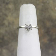 Raw Uncut Rough Diamond Solitaire and 925 Sterling by ASecondTime, $195.00