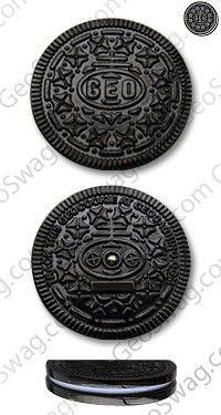 Geocookie - Black Nickel + Copy Tag - Geocoins - Trackables