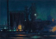 Stephen Magsig scene from Detroit, oil on panel, 5 X 7 inches