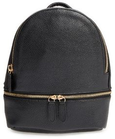 Shop Now - >  https://api.shopstyle.com/action/apiVisitRetailer?id=631255556&pid=uid6996-25233114-59 Girly Faux Leather Mini Zip Backpack - Black  ...
