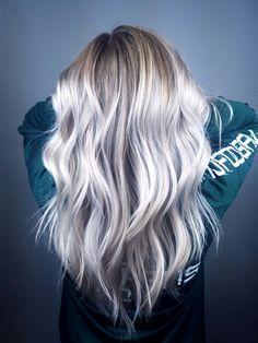 White blonde light blonde balayage with face framing. Hair by Ashton @ Splat Hair Design