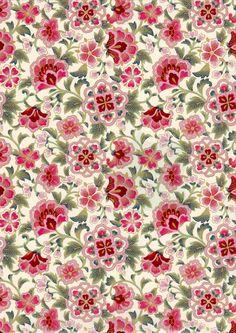 Pink Moroccan Style Japanese Yuzen Chiyogami Washi by mosaicmouse, $2.00