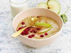 Tarjoa vispipuuroa jälkiruokana tai välipalana maidon kanssa.