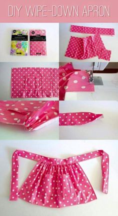 Design wise, not made out of plastic table cloth. Maybe out of duck cloth if pri… Design wise, not made out of plastic table cloth. Maybe out of duck cloth if prices ok. Top 10 Adorable DIY Aprons – Top Inspired – i;m thinking pillowcase apron Sewing Hacks, Sewing Tutorials, Sewing Crafts, Sewing Patterns, Half Apron Patterns, Dress Patterns, Sewing Aprons, Sewing Clothes, Sewing For Kids