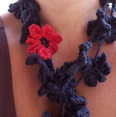 Midnight Poppy Necklace by karenswimmer on Etsy, $15.00