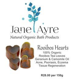 Rooibos Hearts 100% Organic Soap