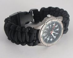Hiking Watches/Survival Watches Made of 550 Paracord