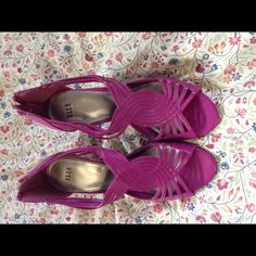 Fuchsia heels Never worn Elle Shoes Heels