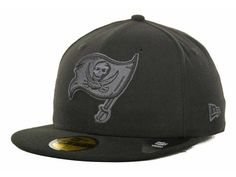 Tampa Bay Buccaneers New Era NFL Black Gray Basic 59FIFTY Cap Hats