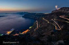 #Venetsanos winery #Athinios port, Santorini #Santorini's sunset
