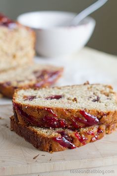 Peanut Butter and Jelly Banana Bread Recipe - Taste and Tell