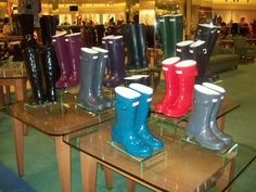 Stay fashionable and functional with Hunter Boots this season. | from Von Maur #VonMaur #HunterBoots #RainBoots (Hunter Boots available in stores only)