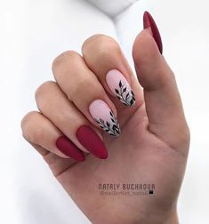 13 Nail Design Ideas to Inspire Your Next Manicure: Perfect Nails, Gorgeous Nails, Acrylic Nail Designs, Nail Art Designs, Red Nails, Hair And Nails, Fall Nails, Cute Nails, Pretty Nails