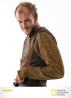 "Gustaf Skarsgard as Floki.  He's the brother of Alexander Skarsgard of ""True Blood"""