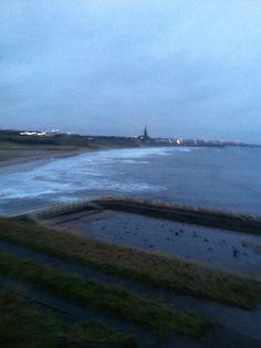 Tynemouth long sands beach 7 35 am Tuesday 4 th February 2014
