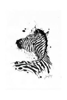 Inked Zebra Wydruk giclee autor James Grey w AllPosters. Zebras, Zebra Print Tattoos, Deco Time, Image Maker, Zebra Drawing, Zebra Art, 1 Tattoo, Frames For Canvas Paintings, Affordable Wall Art