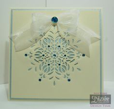 6x6 Tent Card made using Crafter's Companion Christmas Cut In Create a Card die - Ornate Snowflake. Designed by Rachel Webber #crafterscompanion