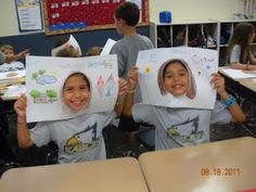 back to school activity - write/ draw about yourself around outside, share with class