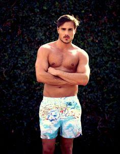 When in Cannes men's swim trunk from VOYAGE Swimwear #mensfashion #swimwear