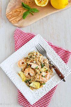 Shrimp & Artichoke Whole Wheat Pasta Salad