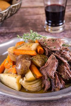 fall; Slow Cooker Beef Pot Roast with pumpkin spiced beer