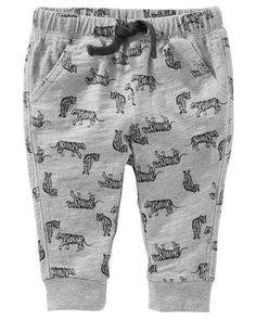 cd8d407bea Baby Boy Tiger Print Jersey Joggers from Carters.com. Shop clothing &  accessories from
