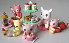 polymer clay figures | By hollyjayne.....polymer clay