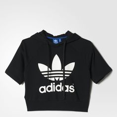 Womens Running Crop Hoodie || ADIDAS || $90 Clothing, Shoes & Jewelry : Women:adidas women shoes http://amzn.to/2iQvZDm
