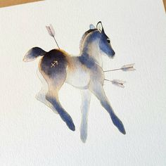 New tattoo watercolor horse 62 Ideas Horse Drawings, Cute Drawings, Animal Drawings, Drawing Animals, Watercolor Horse, Tattoo Watercolor, Zodiac Art, Horse Art, Cute Art