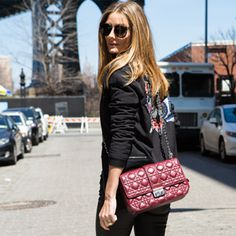 Snapped: Olivia in Brooklyn (sunglasses and bag are both Dior, jacket is Anhha)