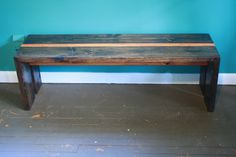 $6 bench from 2x6's, with a two-tone stain. Anyone need a bench? I'm pretty sure I could whip this out in no time
