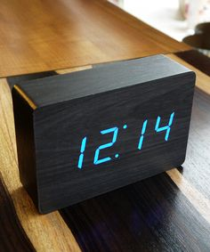 Pitch Black Wood Clock - Weekly Top 10 Collection - Dot & Bo