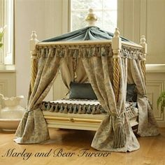 versailles pagoda luxury pet bed are special designed by experienced soft furnishings designer, upholsterer, carpenter and wood craftsman over a year of experience. All the beds are one-off pieces of fine furniture using only high quality materials. Dog Furniture, Furniture Styles, Furniture Layout, Wooden Furniture, Antique Furniture, Versailles, Luxury Pet Beds, Luxury Dog House, Puppy Beds