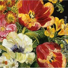 Flower Paintings for Sale | 2010 2-flower Painting | Best 2-flower Paintings For Sale