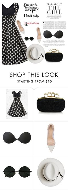 """""""Simpledress 9"""" by mell-2405 ❤ liked on Polyvore featuring Kershaw, Gianvito Rossi and Calypso Private Label"""