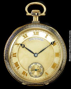 PATEK PHILIPPE 18K GOLD GREEK KEY CHRISTMAS 1917 POCKET WATCH #PatekPhilippe