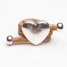Cheap women rings, Buy Quality heart woman directly from China ring ring Suppliers: Natural Cork Portuguese cork Antique Sliver love heart women Ring soft original, adjustable handmade Cork Wood, Strength Of A Woman, Unique Bracelets, Heart Decorations, Wood Rings, Love Ring, Artisanal, Shape Patterns, Love Heart
