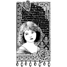 Crafty Individuals Unmounted Rubber Stamp 4.75 X7 Pkg - Young Girl Dreaming