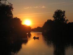 Danube,sunset #World Heritage