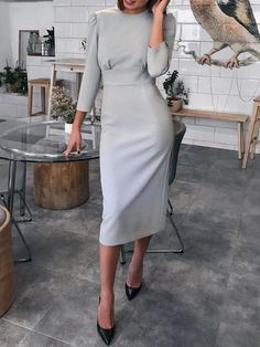 New dress outfits party simple ideas Dresses For Teens, Modest Dresses, Trendy Dresses, Tight Dresses, Nice Dresses, Casual Dresses, Short Dresses, Dresses For Work, Midi Dress With Sleeves