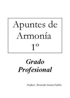PDF – Apuntes de Armonía 1º