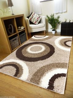 Small - Extra Large Size Thick 5cm Pile Plain Modern Non-Shed Soft Shaggy Rugs